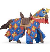 Blue Fleur De Lys Draped Horse