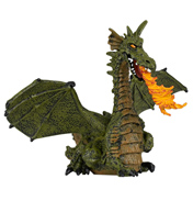 PAPO Green Winged Dragon with Flame