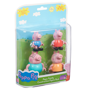 Peppa Pig Construction Family 4 Figure Pack