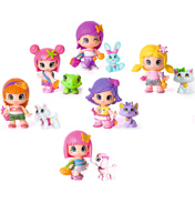 Pinypon Figure & Pet PINK HAIRED GIRL &…