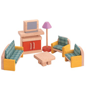 Plan Toys Dolls House Living Room Neo Set