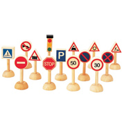 Plan Toys Traffic Signs & Lights Accessory Set