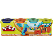 Play-doh 4 x 140g Packs in DARK BLUE, ORANGE, TEAL…
