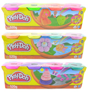 Playdoh Four Colour Pack PURPLE, GREEN, ORANGE…