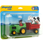 Playmobil 1 2 3 Tractor &#38; Wagon