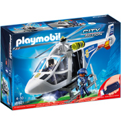 City Action Police Helicopter with LED Searchlight