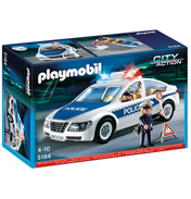 Playmobil City Action Police Car with Flashing…
