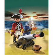 Playmobil Redcoat Cannon Officer
