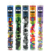 Plus-Plus Builder Tube (100 Piece) GRAYSCALE