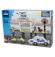Plus Plus Police Station with Baseplates 760pcs