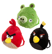 Angry Birds Plush Shaped Bag- Green Pig