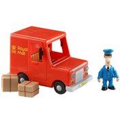 Royal Mail Van & Pat Figure With Boxes
