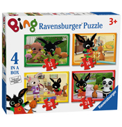 Bing Bunny 4 Puzzles in 1 Box