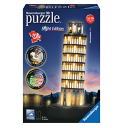 Leaning Tower of Pisa Night Edition 3D Jigsaw Puzzle (216 Piece)