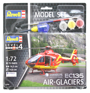 Airbus EC135 Air Glaciers Model Set (Level 4) (Scale 1:72)