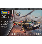 Bell UH-1H Gunship (Level 3) (Scale 1:100)