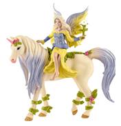 Bayala Fairy Sera with Blossom Unicorn Figure