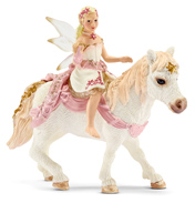 Delicate Lily Elf, Riding A Pony