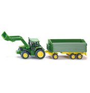 John Deere Tractor With Front Loader & Trailer