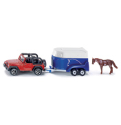 Jeep With Horse & Trailer