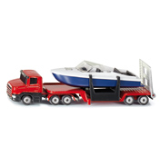 Low Loader with Speedboat