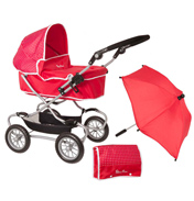 Silver Cross Classic Pram in Poppy Domino