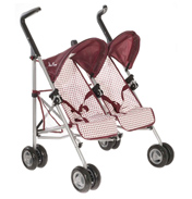 Silver Cross Pop Duo Pram in BERRY