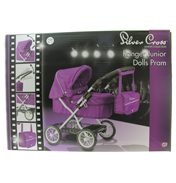 Silver Cross Ranger Dolls Pram in DAMSON