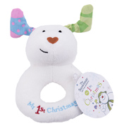 Snowdog Ring Rattle