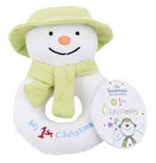 The SNOWMAN My First Christmas Ring Rattle