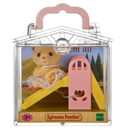 Baby Carry Case Yellow Labrador on Slide