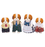 Chiffon Dog Family Figures