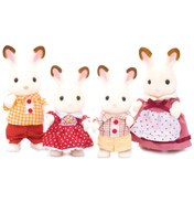 Sylvanian Families Chocolate Rabbit Family