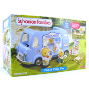 Sylvanian Families Fish & Chips Van (BLUE BOX…