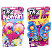 Body Tagz Girls Hearts & Stars Shaped Tattoos
