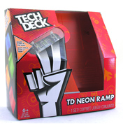 Tech Deck Big Neon Double Bank Ramp with Board