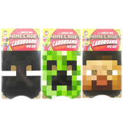 The Amazing Minecraft Cardboard Head CREEPER