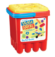 The Original Stickle Bricks BIG Red Bucket