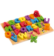 Tidlo Toys Wooden ABC Board