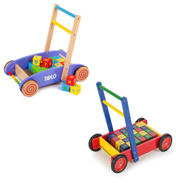 Tidlo Toys Wooden Baby Walker with ABC Blocks in…