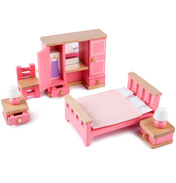 Tidlo Toys Wooden Bedroom Set