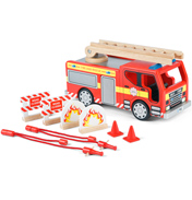 Tidlo Toys Wooden Fire Engine Set