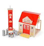 Wooden Fire Station Set