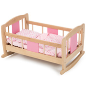 Tidlo Toys Wooden Rocking Cradle