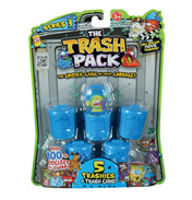 Trash Packs 5 Trashies in 5 Bins (Series 3 Blue)