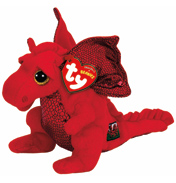 Beanie Babies Y Ddraig Goch (Red Dragon) Plush