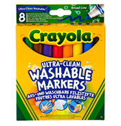 Crayola Ultra Clean Washable Broad Markers Pack of 8