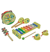A B Gee Wooden Musical Instruments Set