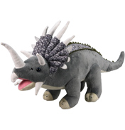 XJ Dinosaur Plush Triceratops in Grey & Beige…