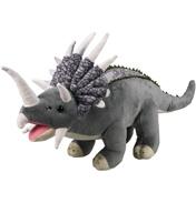 XJ Dinosaur Plush Triceratops in Grey & Beige…